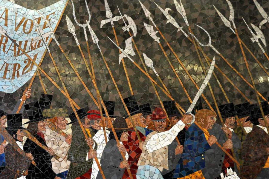 Iconoclasm today art under attack for Chartist mural newport