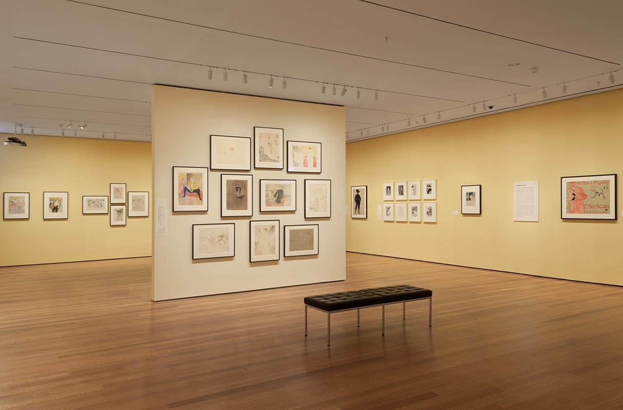 Installation view of 'The Paris of Toulouse-Lautrec: Prints and Posters' at The Museum of Modern Art, New York (26 July, 2014–22 March 2015).