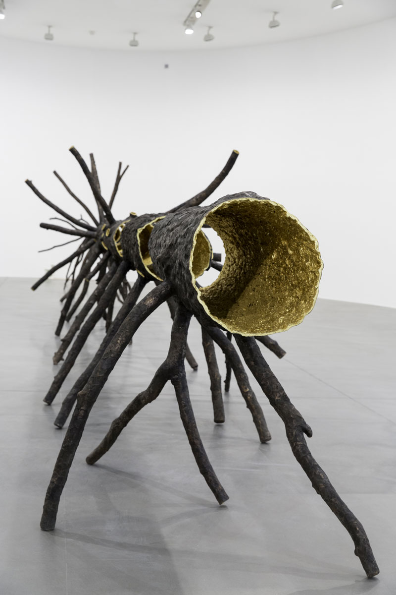 best loved 80e21 2a8d3 (2008), Giuseppe Penone, bronze and gold, eight elements. Installation view