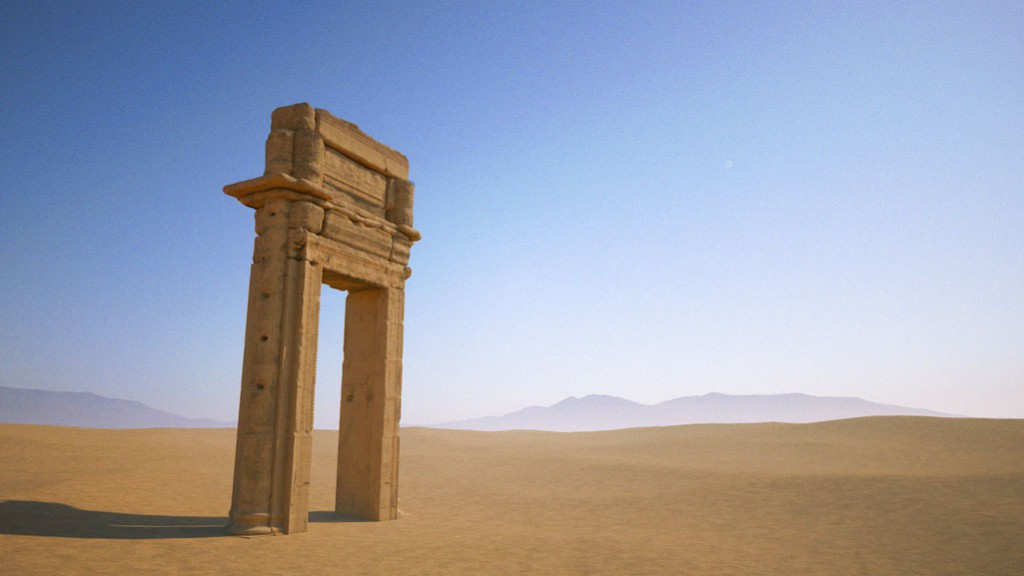 A 3D-rendering of the archway of the Temple of Bel, Palmyra, created by the Institute for Digital Archaeology