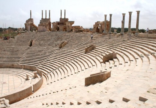 The theatre at Lepcis Magna in 2010.