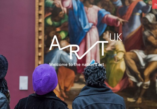 The homepage of Art UK, which was launched today (24 February 2016)