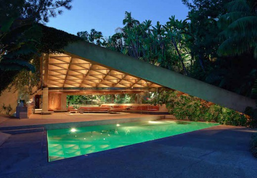 The Sheats Goldstein Residence, designed by John Lautner.