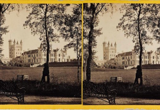Stereocard depicting Balmoral Castle from the north-west (1863), George Washington Wilson (1823–90)  & Co., Aberdeen. National Museums Scotland