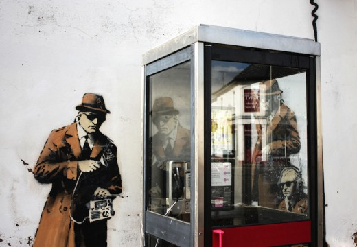 The Banksy mural in Cheltenham. Photo: lamentables/Flickr