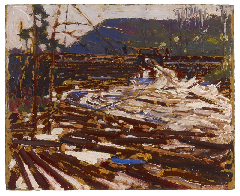 Log Jam: Sketch for 'The Drive' (1916), Tom Thomson. The Thomson Collection © Art Gallery of Ontario