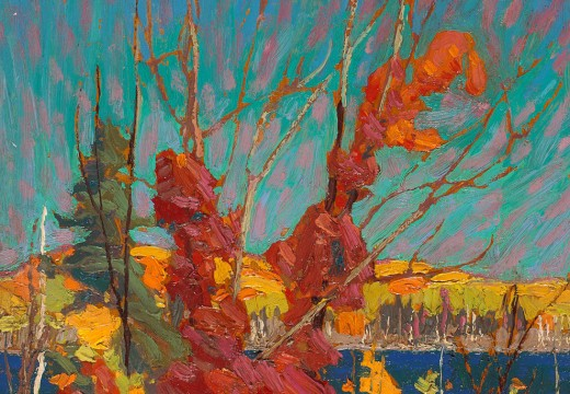autumn foliage by tom thomson