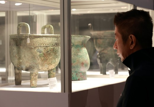 Ancient bronze Chinese vessels at Fine Art Asia in Hong Kong last year.