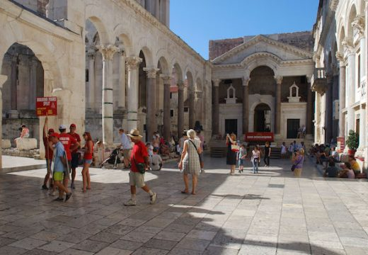 The peristyle of Diocletian's Palace, Split.