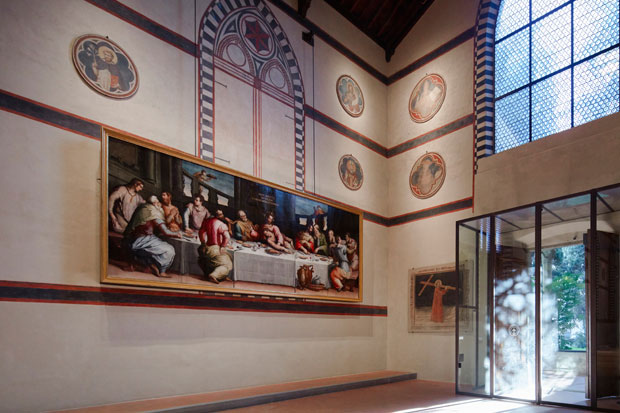 Giorgio Vasari's 'Last Supper' back on display at Santa Croce, Florence. Photo: ZEPstudio/OPera di Santa Croce