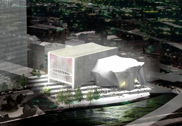 Manchester's Factory arts centre, designed by Rem Koolhaas's OMA practice, was granted planning permission in January and has received significant funding from the UK government. © OMA. Image Courtesy Factory Manchester