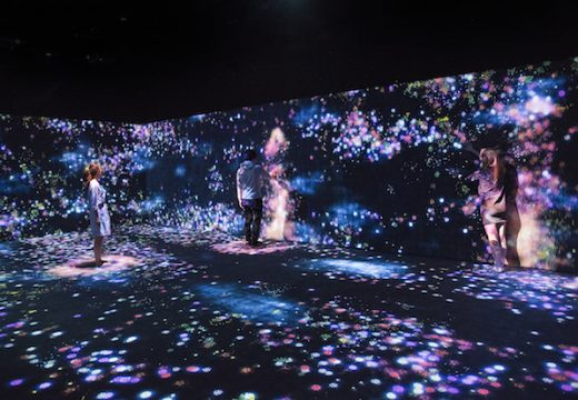 Flowers and People, Cannot be Controlled but Live Together – A Whole Year per Hour (2015), teamLab. Courtesy of Moody Center for the Arts and teamLab