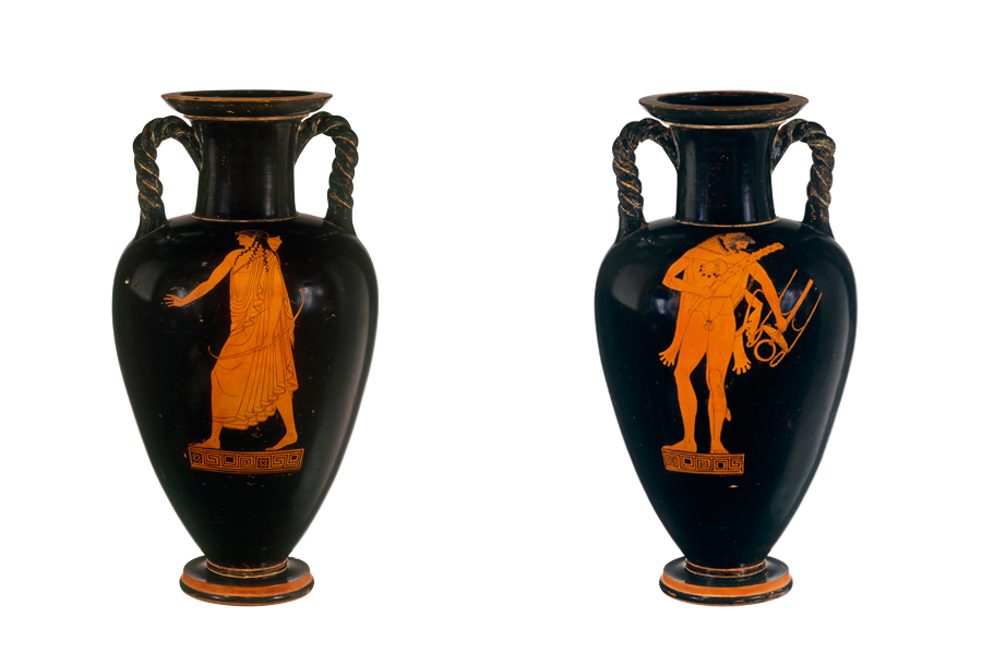 Red-figure neck amphora, (c. 490–480 BC), Greek, Attic, attributed to the Kleophrades Painter. Photos: © Metropolitan Museum of Art, New York