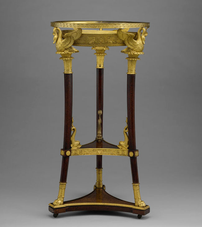 Washstand (1800–14), designed by Charles Percier with mounts by Martin-Guillaume Biennais. Metropolitan Museum of Art, New York