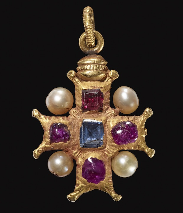 Jewelled cross pendant (possibly 16th century), Italy. © The Trustees of the British Museum