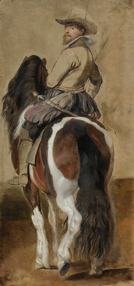 Study of a Horse with a Rider (early 1610s), Peter Paul Rubens