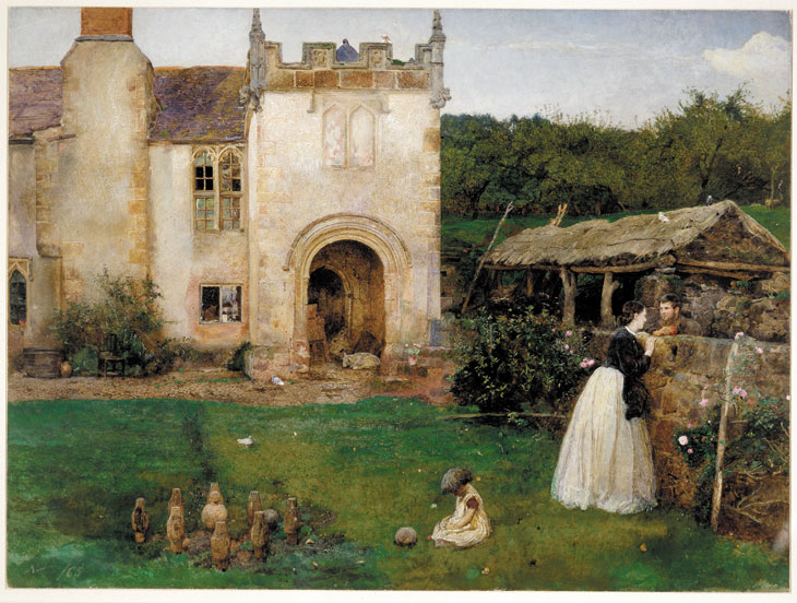 The Old Bowling Green, Halsway Court, Somerset (1865), John William North. © The Trustees of the British Museum