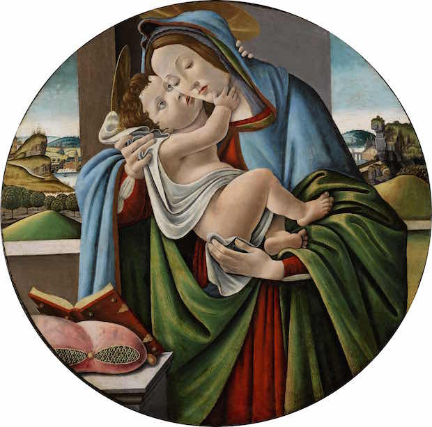 Virgin and Child (c. 1480–90), Studio of Sandro Botticelli (Alessandro di Mariano Filipepi). © Fitzwilliam Museum, Cambridge