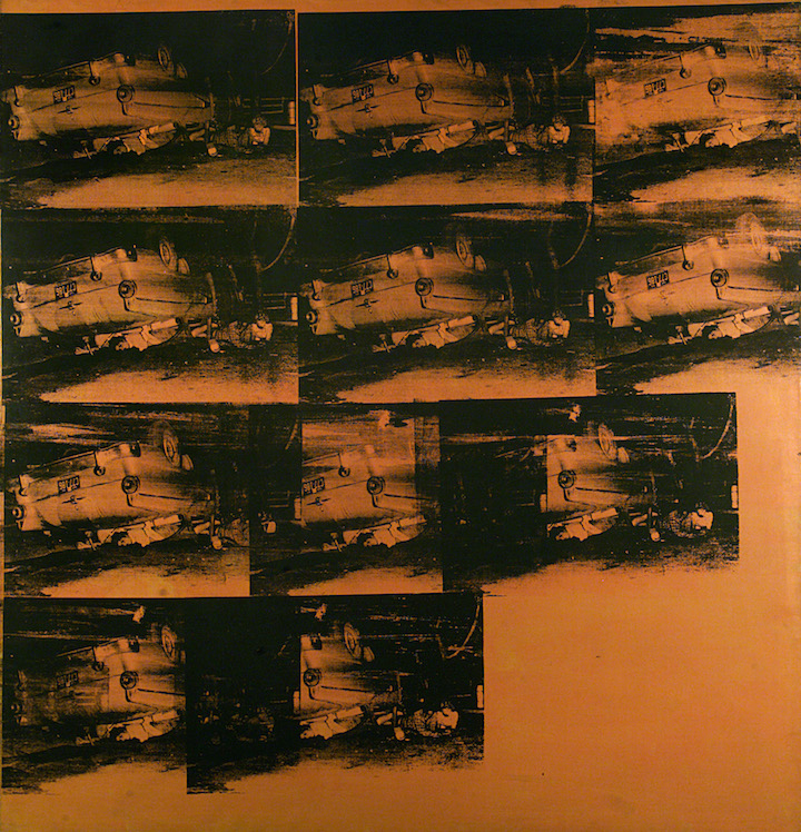 Orange Car Crash Fourteen Times (1963), Andy Warhol. © 2017 Andy Warhol Foundation for the Visual Arts / Artists Rights Society (ARS), New York