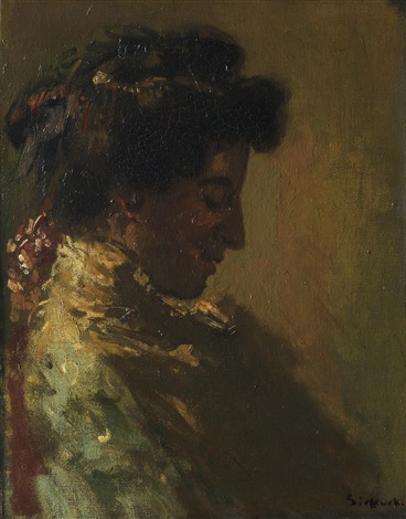 Woman in Profile with Downcast Eyes (c. 1904), Walter Sickert