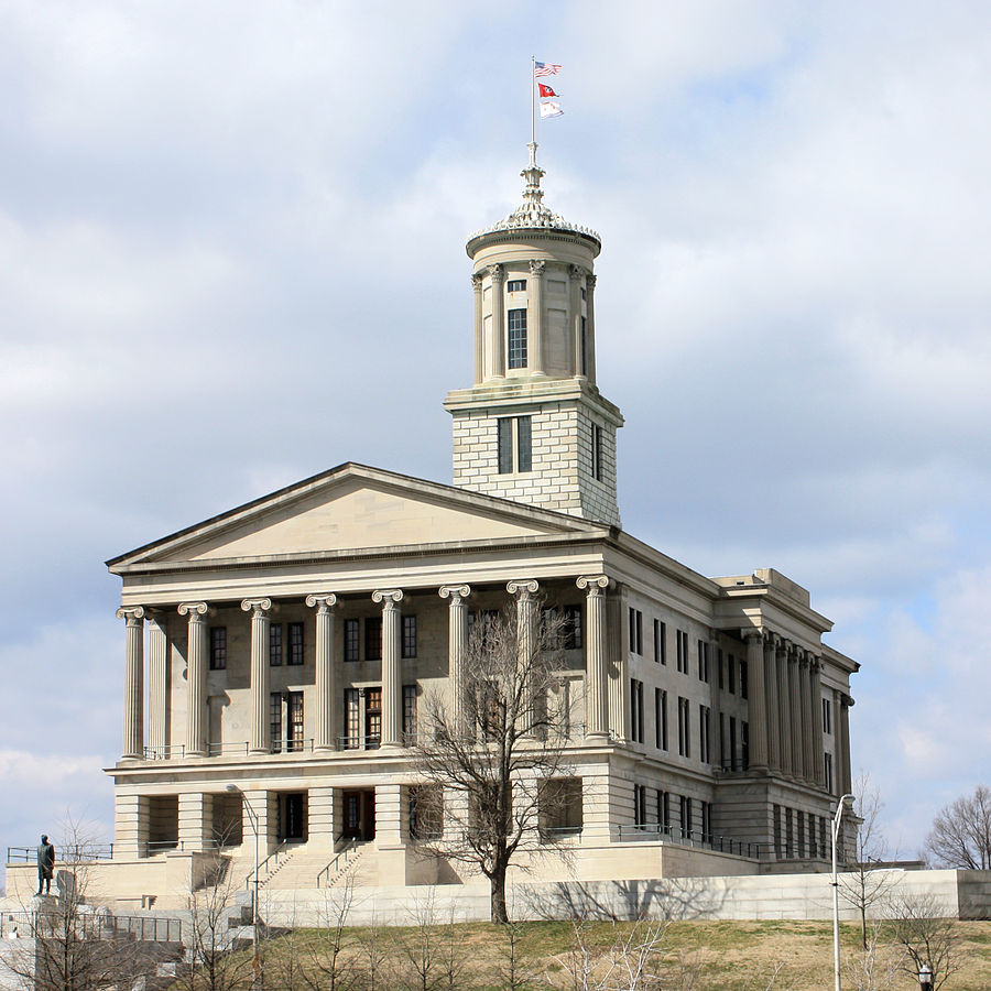The Tennessee State Capitol in Nashville is designed by William Strickland. Photo: Wikimedia Commons (Kaldari)